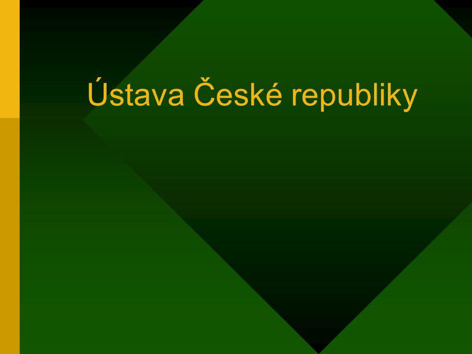 Ústava ČR Hlava 4 – moc soudní: Soudy jsou nezávislé.