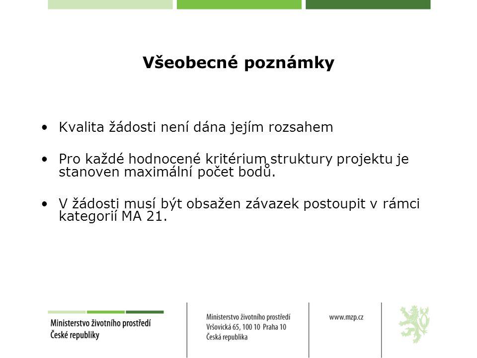 Strukturovaný popis projektu (příloha č.9) Patří mezi nejvýznamnější části žádosti.