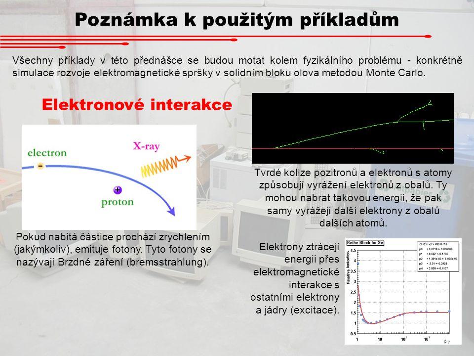 Poznámka k použitým příkladům Všechny příklady v této přednášce se budou motat kolem fyzikálního problému - konkrétně simulace rozvoje elektromagnetic