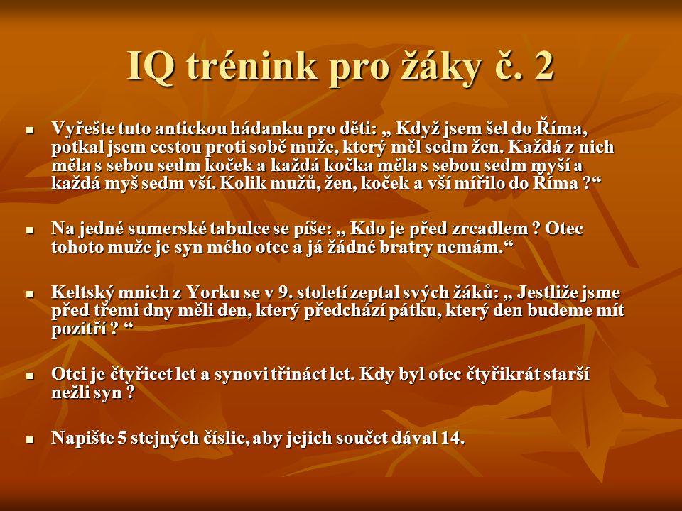 IQ trénink pro žáky č.