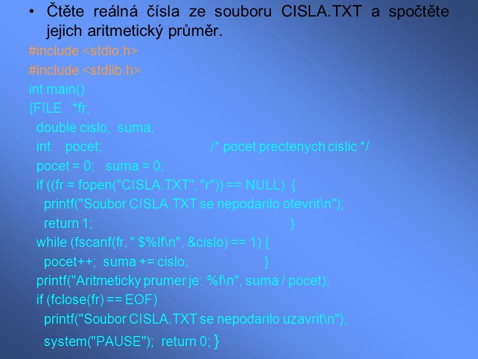 Napište program, který se pokouší číst neexistující soubor SCHAZI.TXT a vypíše chybovou zprávu.