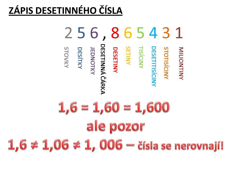 Vybarvené části jsou stejně velké – čísla se sobě rovnají.