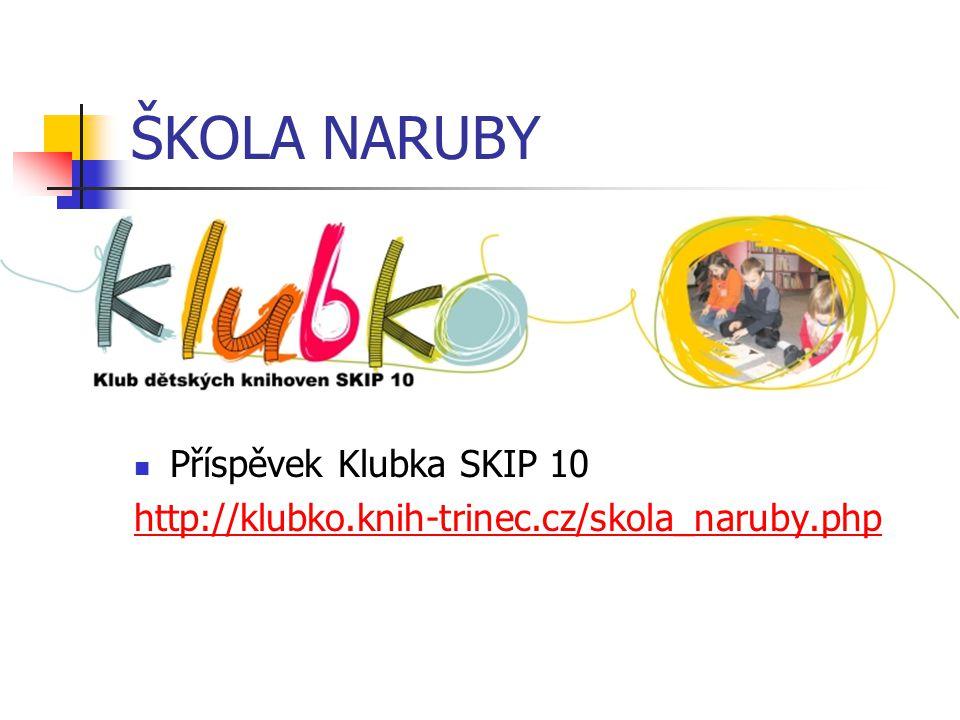 ŠKOLA NARUBY Příspěvek Klubka SKIP 10 http://klubko.knih-trinec.cz/skola_naruby.php
