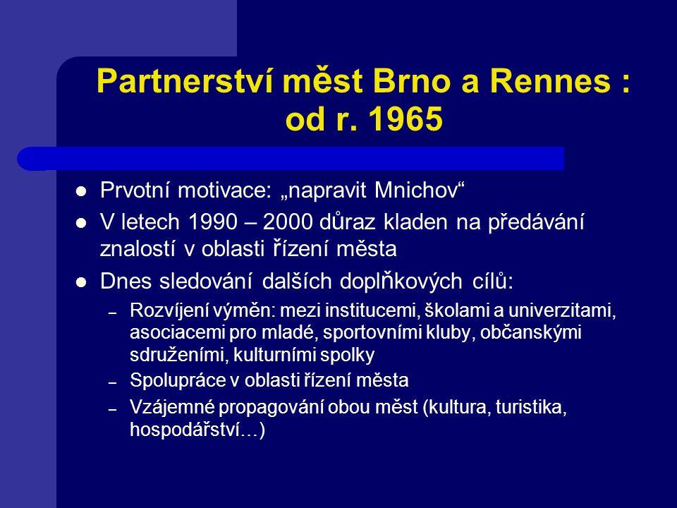Partnerství m ě st Brno a Rennes : od r.