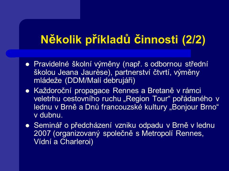 N ě kolik p ř íklad ů č innosti (2/2) Pravidelné školní výměny (např.