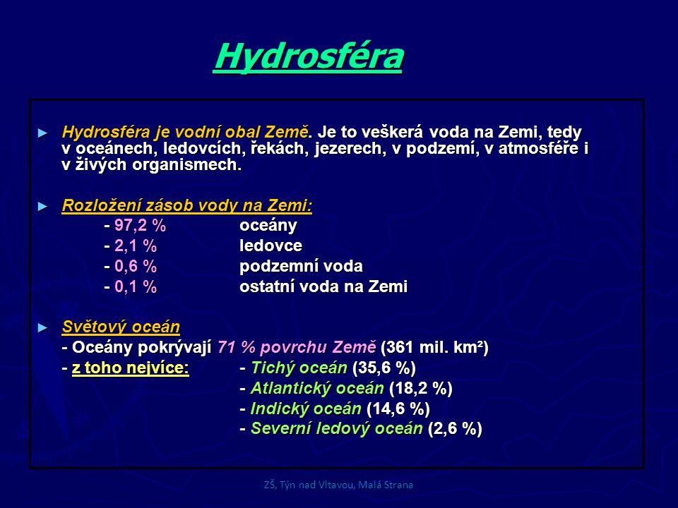 Hydrosféra ► Hydrosféra je vodní obal Země.