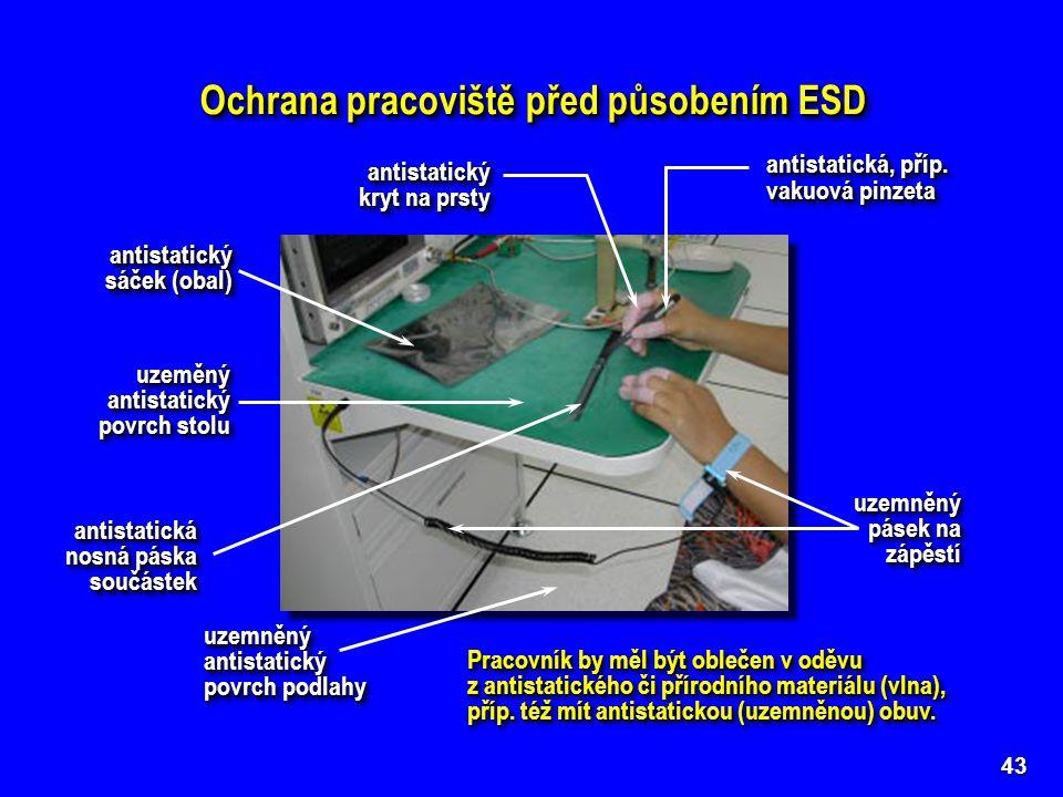 Ochrana pracoviště před působením ESD 43 antistatická, příp. vakuová pinzeta antistatická, příp. vakuová pinzeta antistatický kryt na prsty antistatic