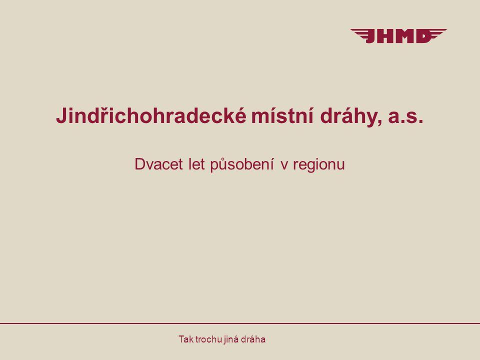 Jindřichohradecké místní dráhy, a.s. Dvacet let působení v regionu Tak trochu jiná dráha