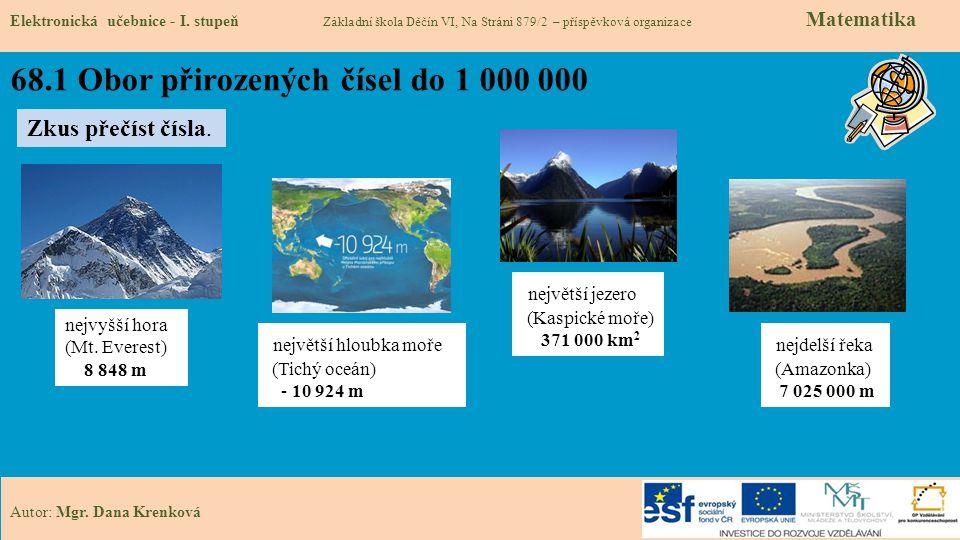 68.1 Obor přirozených čísel do 1 000 000 Elektronická učebnice - I.
