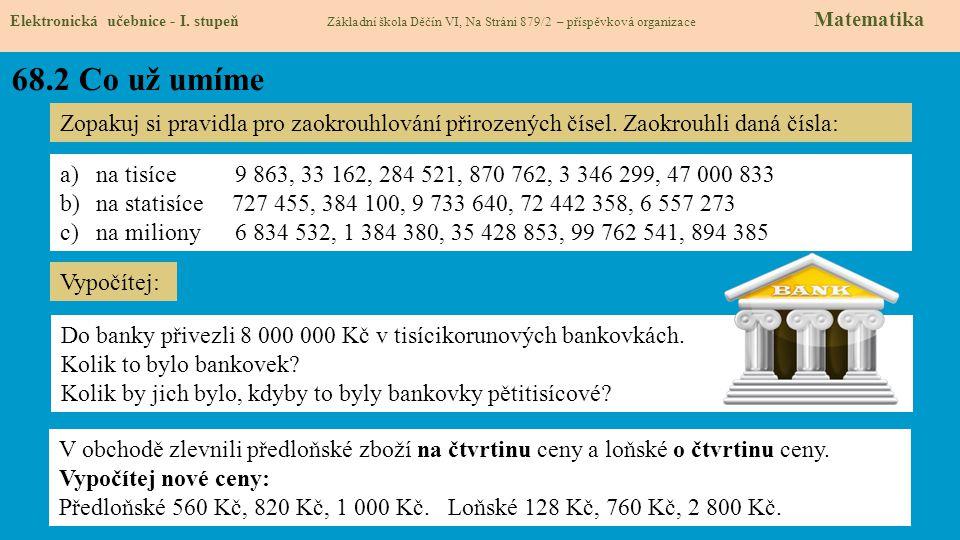 68.3 Co si řekneme nového Elektronická učebnice - I.