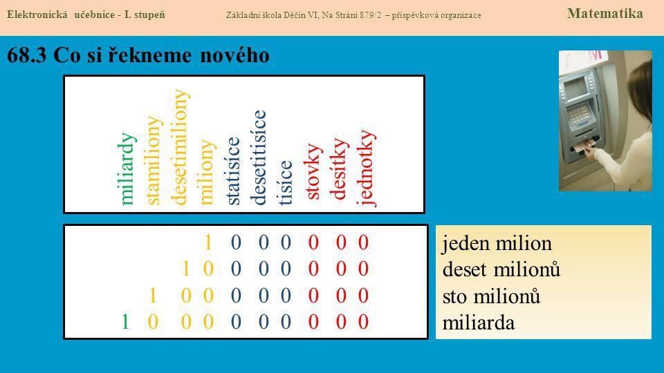 68.4 Nové termíny a názvy Elektronická učebnice - I.