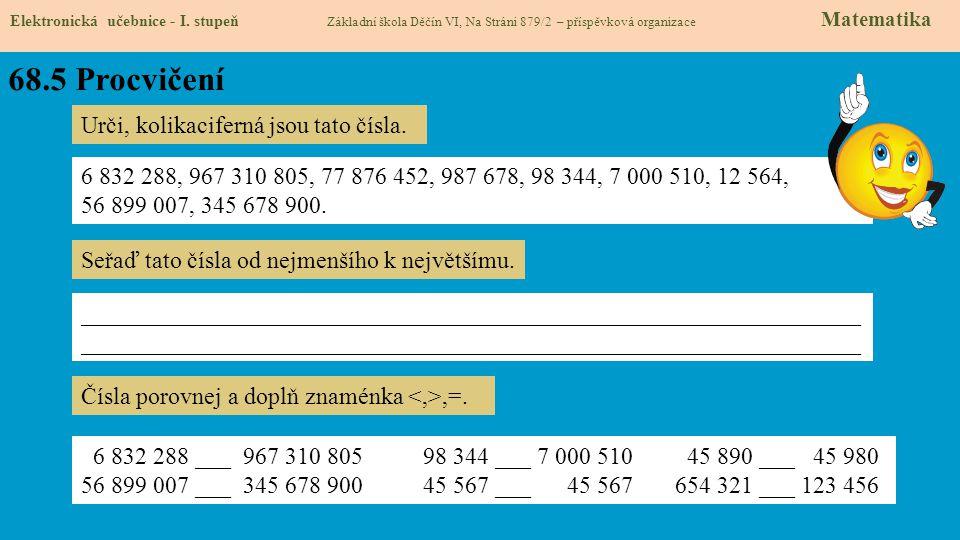 68.5 Procvičení Elektronická učebnice - I.