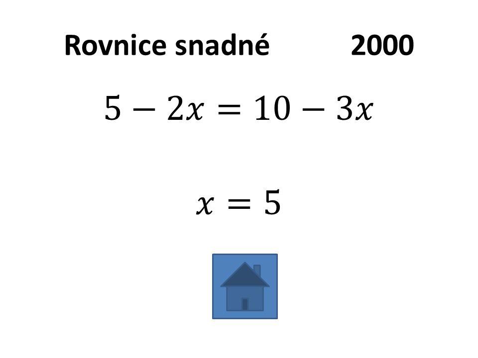 Rovnice snadné2000