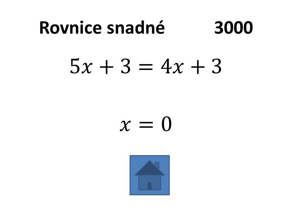 Rovnice snadné3000