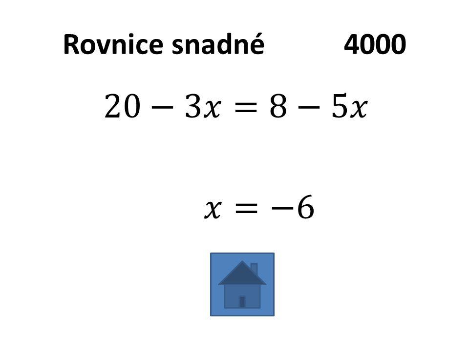 Rovnice snadné4000