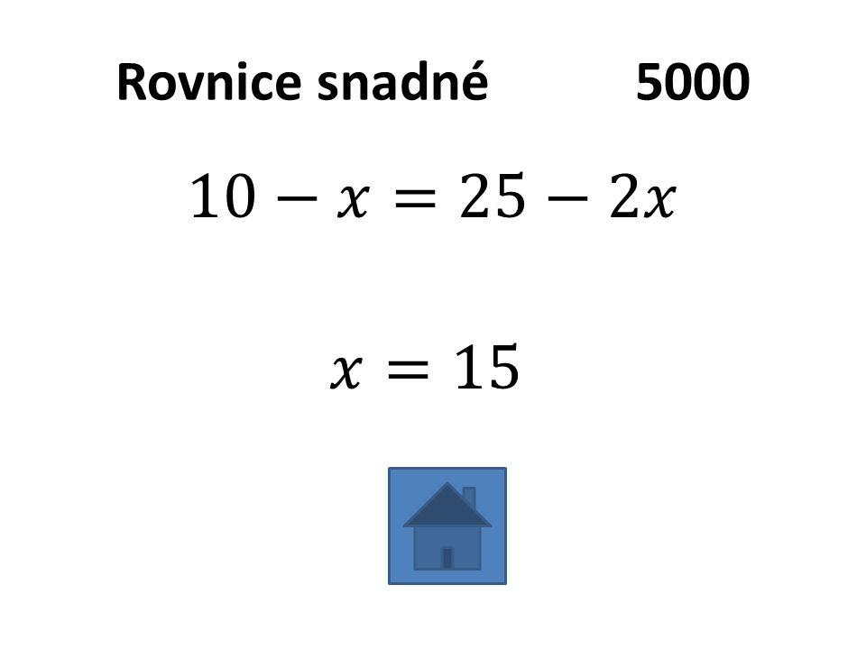 Rovnice snadné5000
