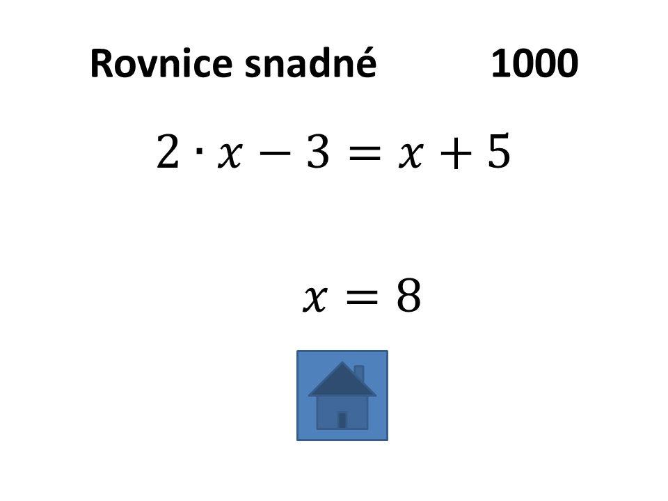 Rovnice snadné1000