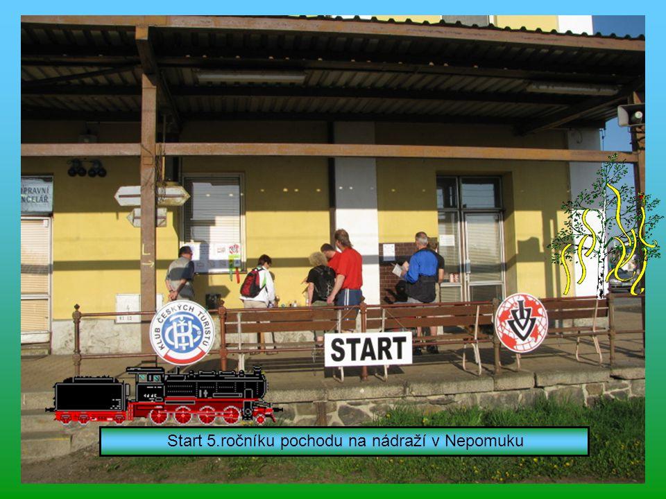Start 5.ročníku pochodu na nádraží v Nepomuku