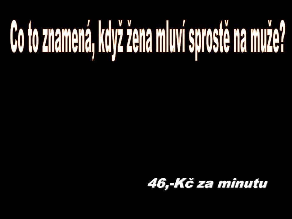 46,-Kč za minutu