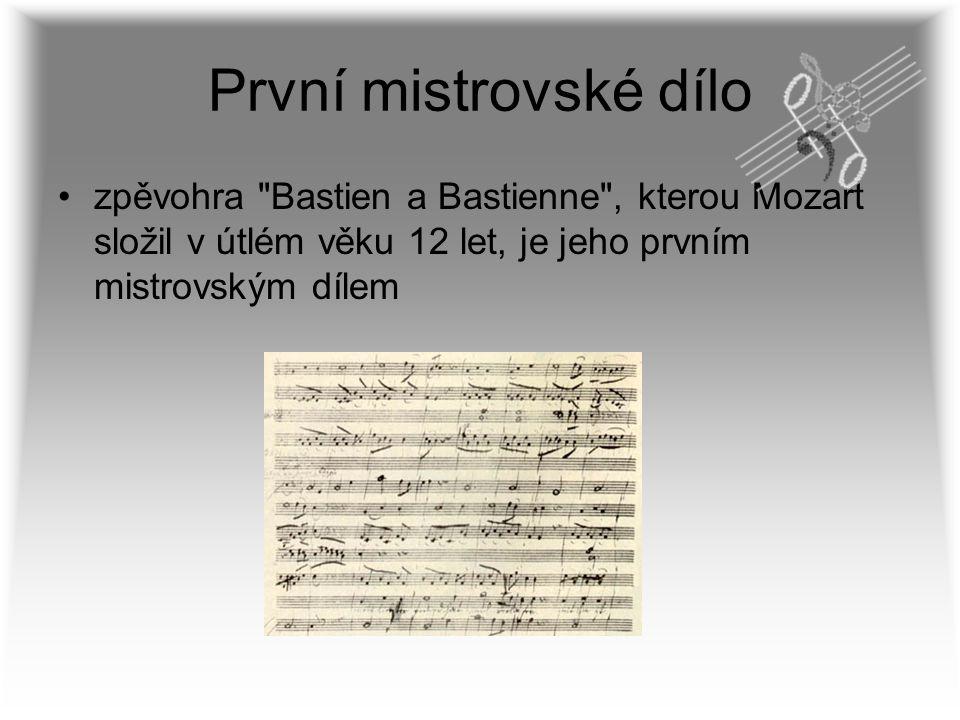 První mistrovské dílo zpěvohra