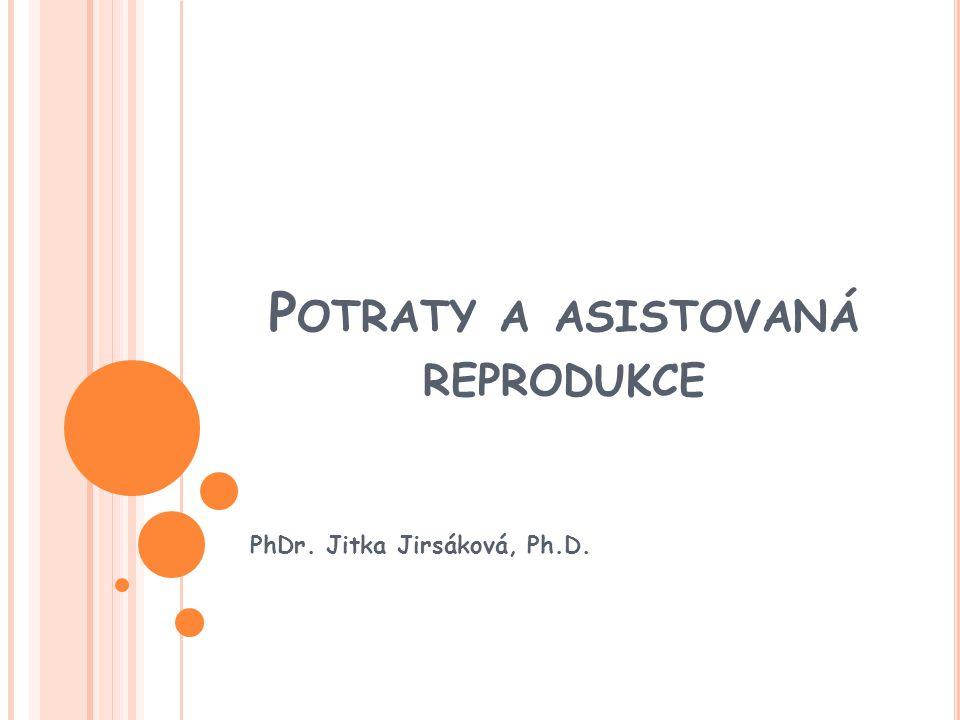 P OTRATY A ASISTOVANÁ REPRODUKCE PhDr. Jitka Jirsáková, Ph.D.