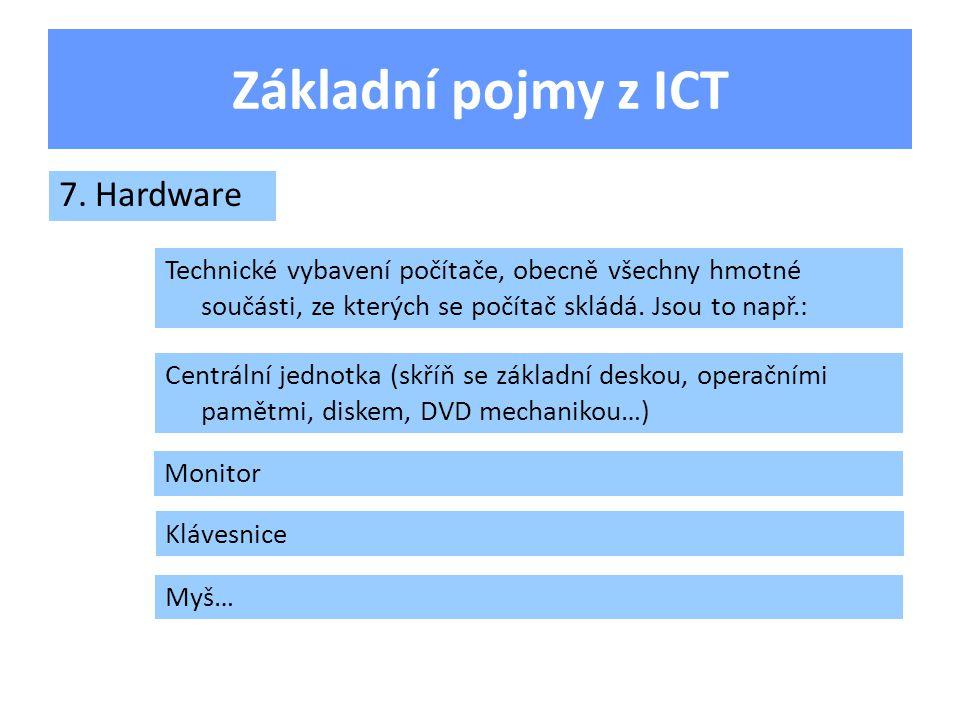 Základní pojmy z ICT Co je bajt.Opakování Co je software.