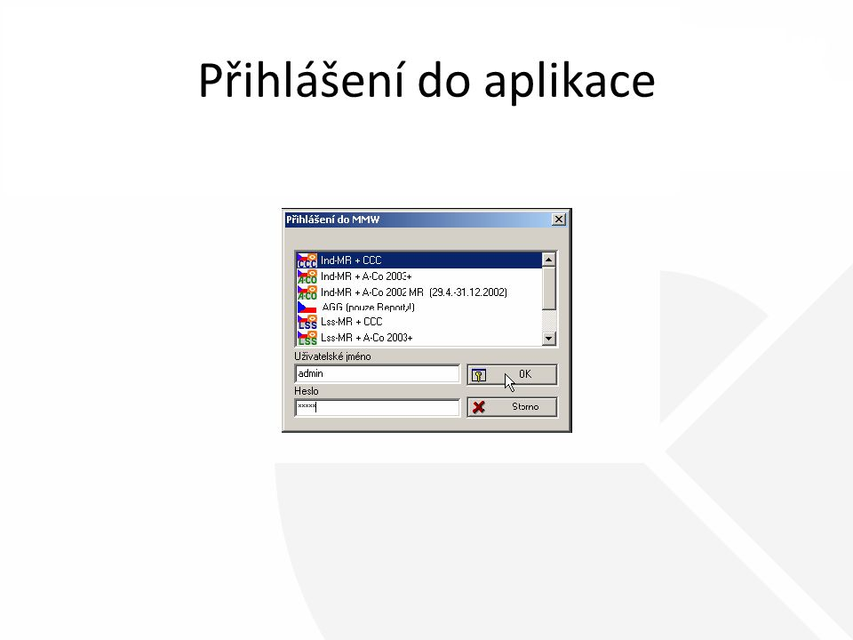Hlavní okno aplikace