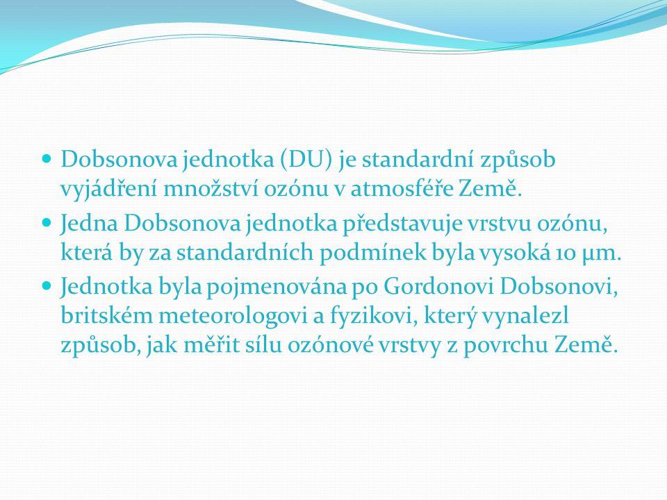 Dobsonova jednotka (DU) je standardní způsob vyjádření množství ozónu v atmosféře Země. Jedna Dobsonova jednotka představuje vrstvu ozónu, která by za