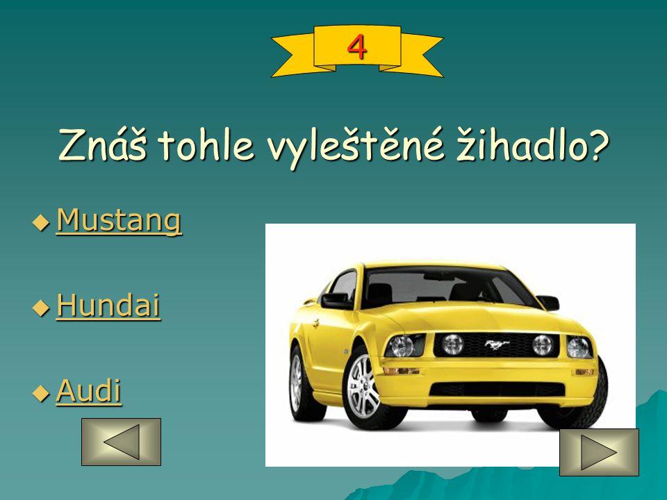 Znáš tohle vyleštěné žihadlo  Mustang Mustang  Hundai Hundai  Audi Audi 4
