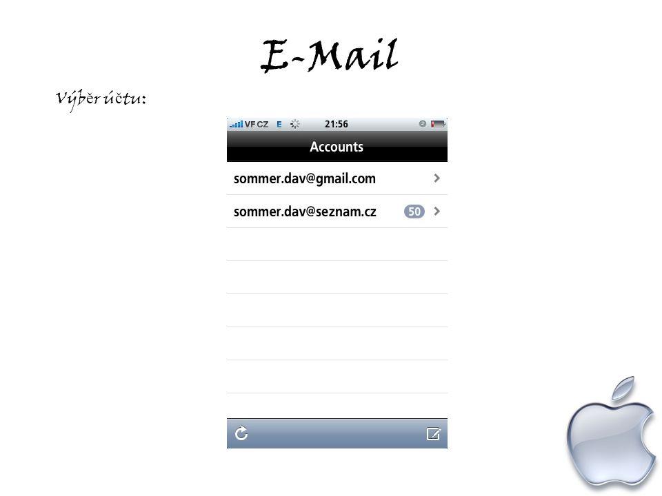 E-Mail Výb ě r ú č tu: