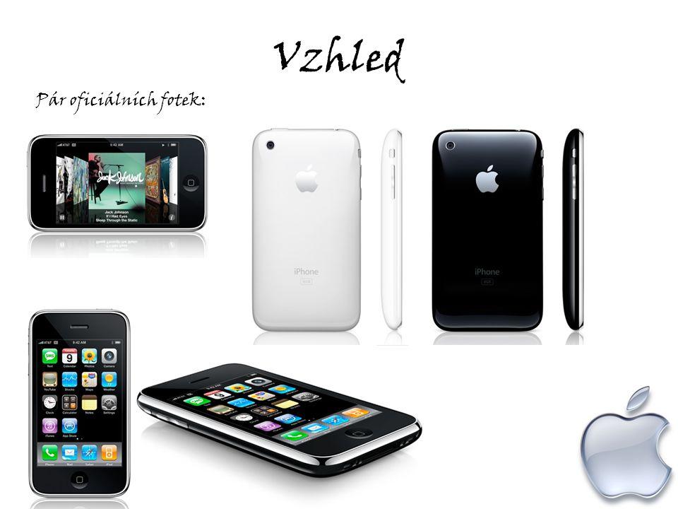 Vzhled Porovnání se starším bráškou : iPhon e 3 iPhone 3G iPhon e Hlavní menu iPho ne 3 iPhone 3G iPhon e
