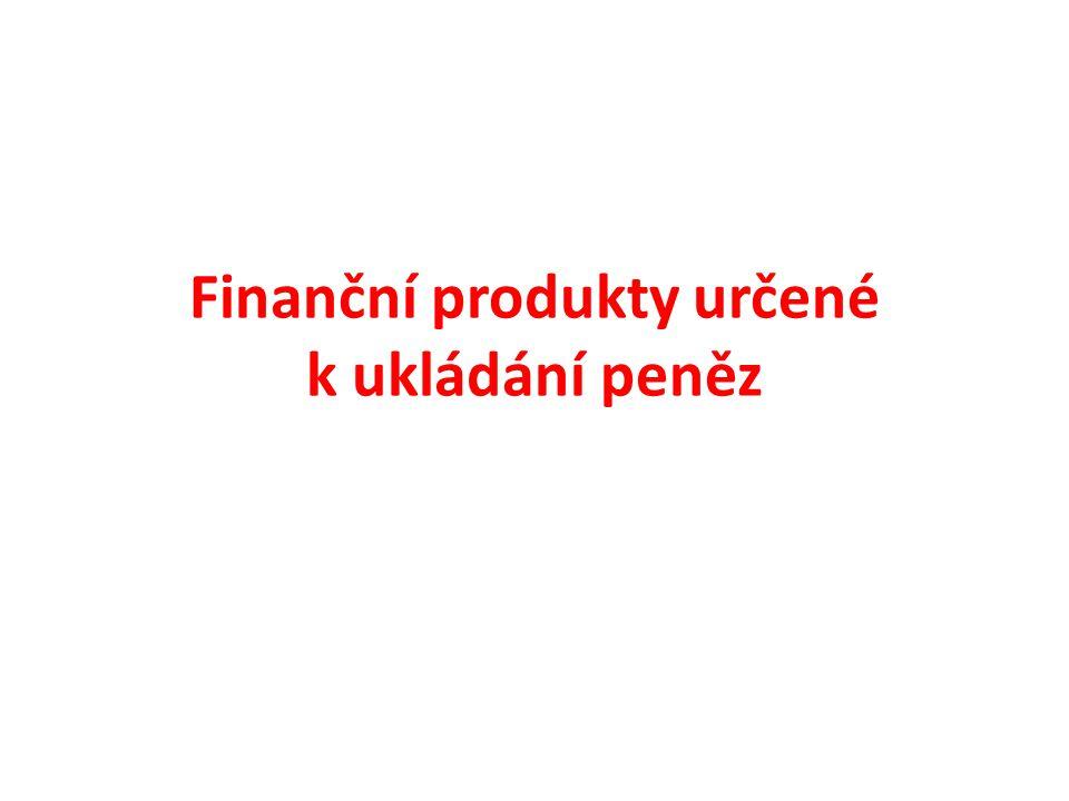 Finanční produkty určené k ukládání peněz