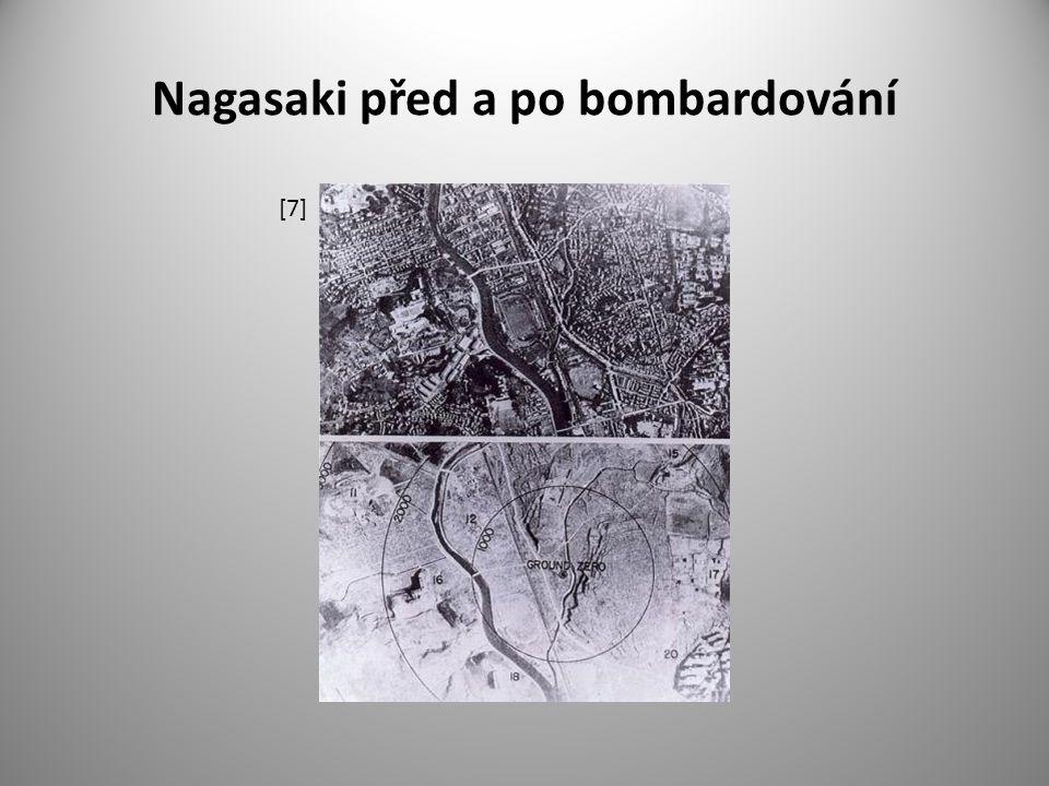 Nagasaki před a po bombardování [7]