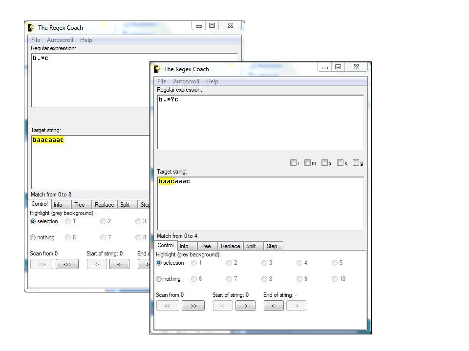Modifikátory Modifikátory slouží ke změně následujících znaků.