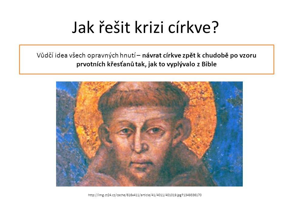Jak řešit krizi církve.