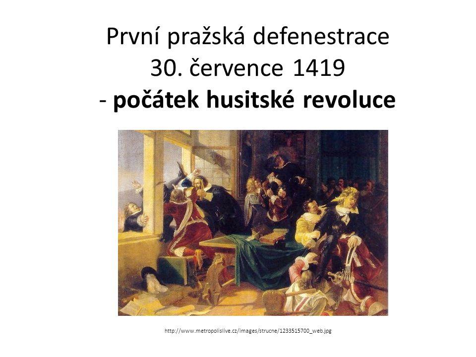 První pražská defenestrace 30.