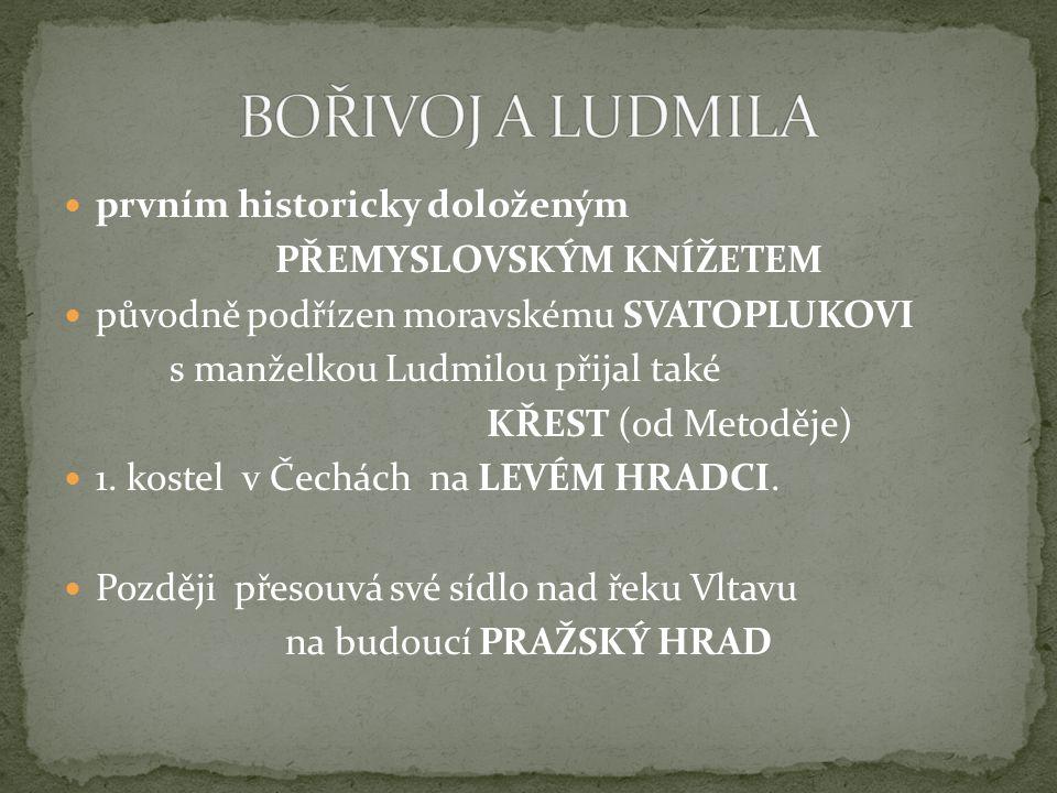 SPYTIHNĚV starší syn odtrhl se od VELKÉ MORAVY podřídil se VÝCHODOFRANSKÉ ŘÍŠI přijal latinskou liturgii.