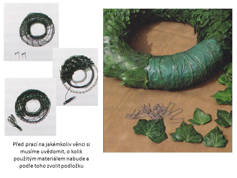  lepený věnec jednoduchý a rychlý způsob nejširší využití při práci se sušeným rostlinným materiálem nejčastěji používáme tavnou lepící pistoli pro lehké sušené materiály (např.
