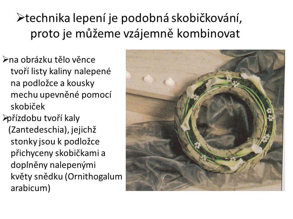  proplétaný věnec tělo věnce je zhotoveno např.