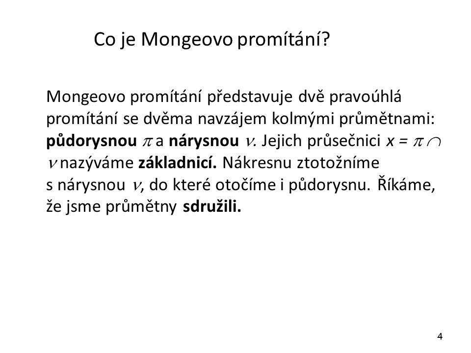 Co je Mongeovo promítání.