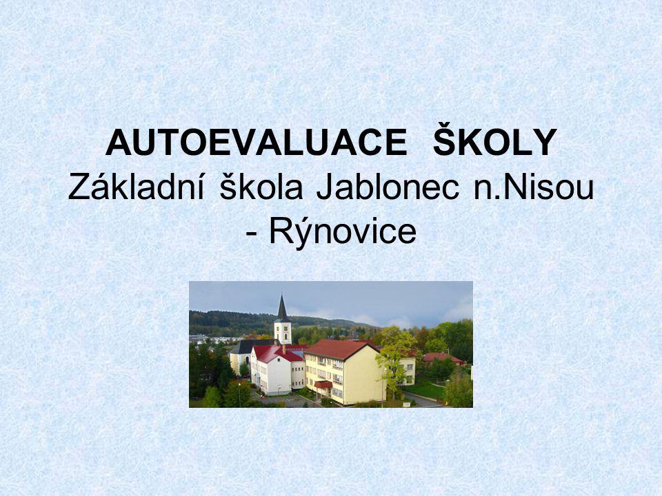 AUTOEVALUACE ŠKOLY Základní škola Jablonec n.Nisou - Rýnovice