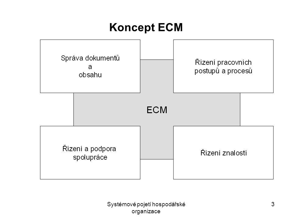 Systémové pojetí hospodářské organizace 3 Koncept ECM