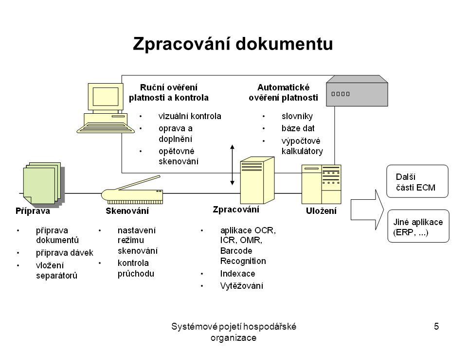 Systémové pojetí hospodářské organizace 5 Zpracování dokumentu