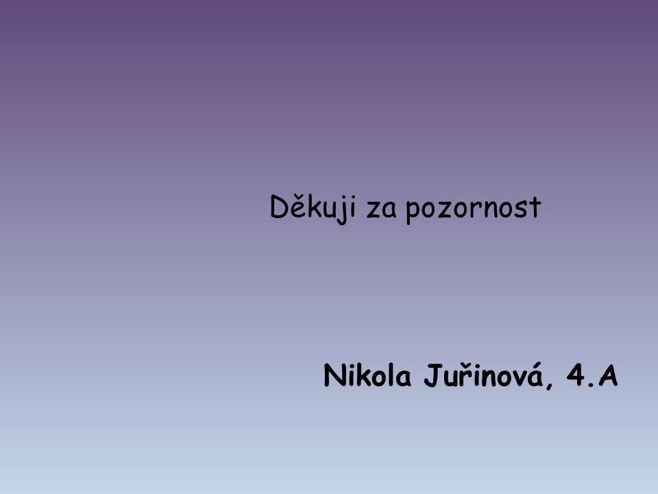 Děkuji za pozornost Nikola Juřinová, 4.A