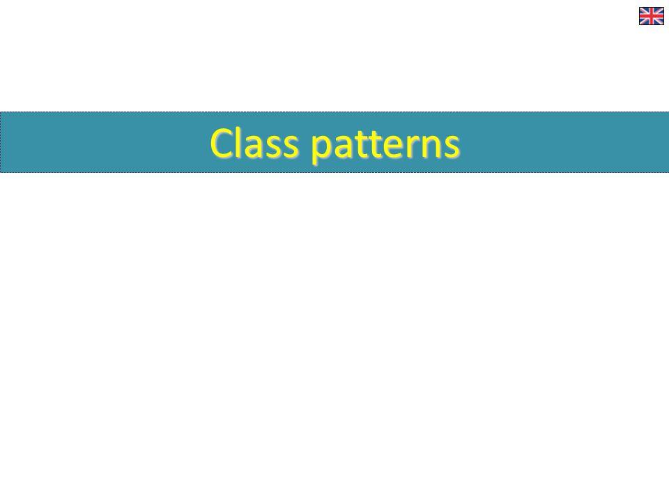 Class patterns Typické situace