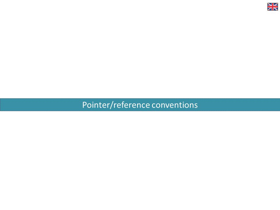 Pointer/reference conventions
