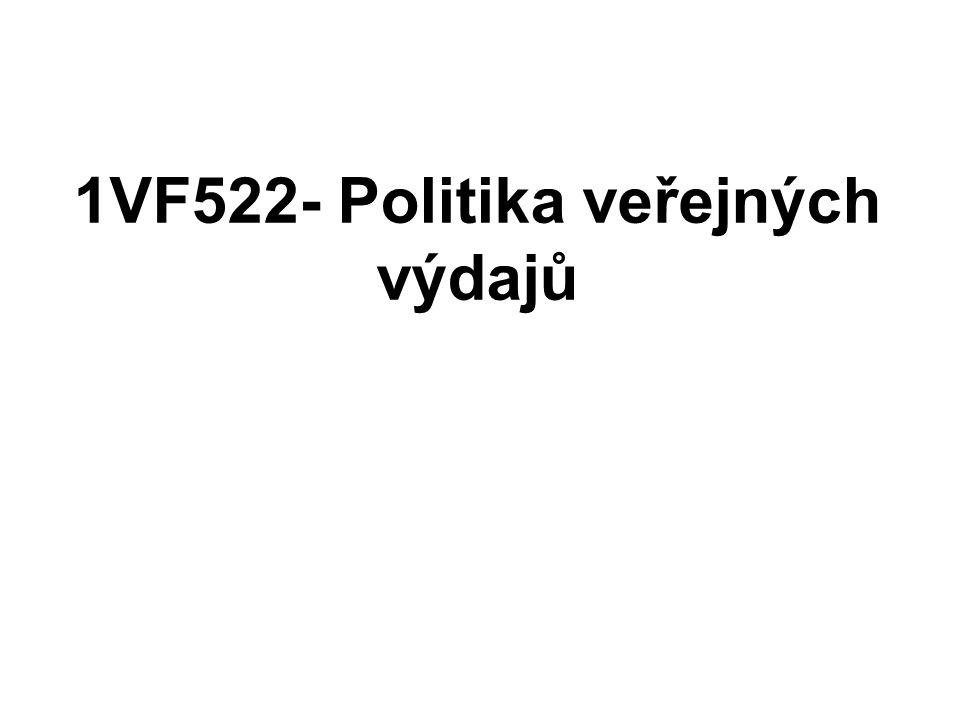 1VF522- Politika veřejných výdajů