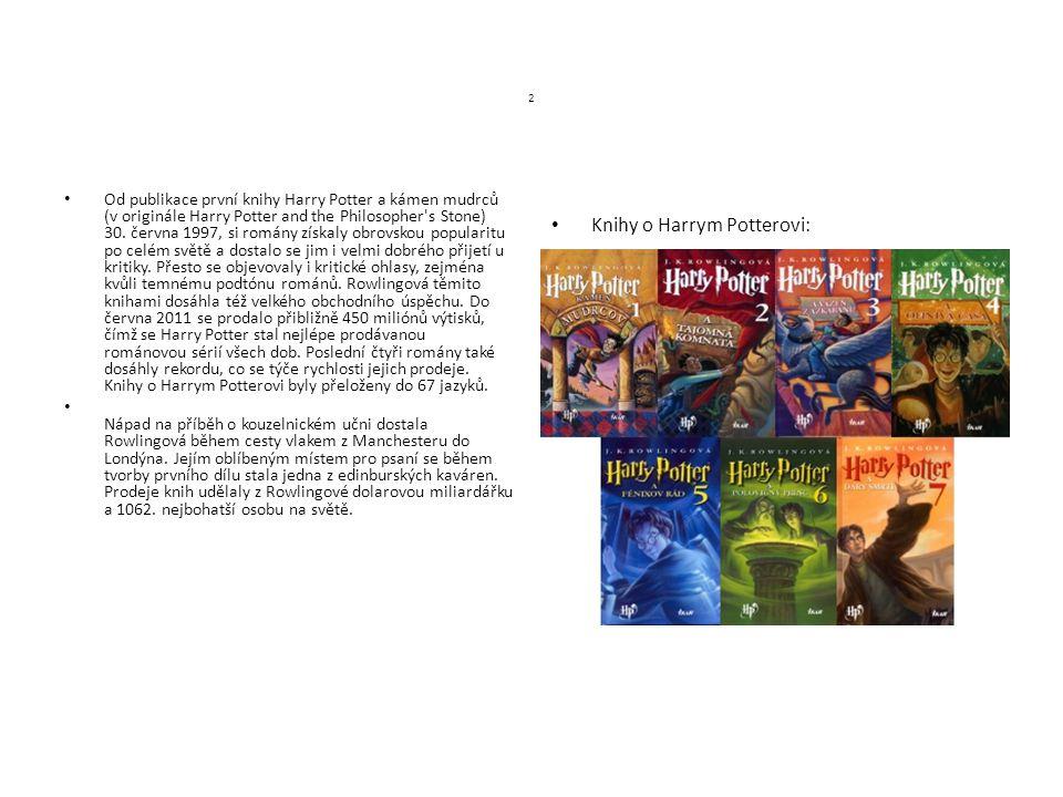 2 Od publikace první knihy Harry Potter a kámen mudrců (v originále Harry Potter and the Philosopher's Stone) 30. června 1997, si romány získaly obrov