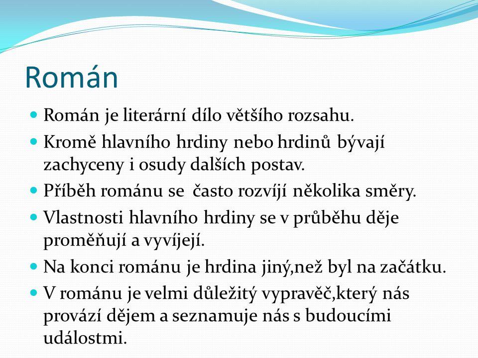 Román Prameny: http://www.popron.cz/special/hranicaruv-ucen/e- 47/?gclid=CKr5pZLl6KwCFZQhtAod60O2MQ http://cs.wikipedia.org/wiki/John_Flanagan http://www.spisovatele.cz/stanislav-rudolf http://www.databazeknih.cz/vydane-knihy/thomas- brezina-344 http://cs.wikipedia.org/wiki/Román http://www.zones.sk/studentske-prace/.../4042- roman/Archiv - Podobné -