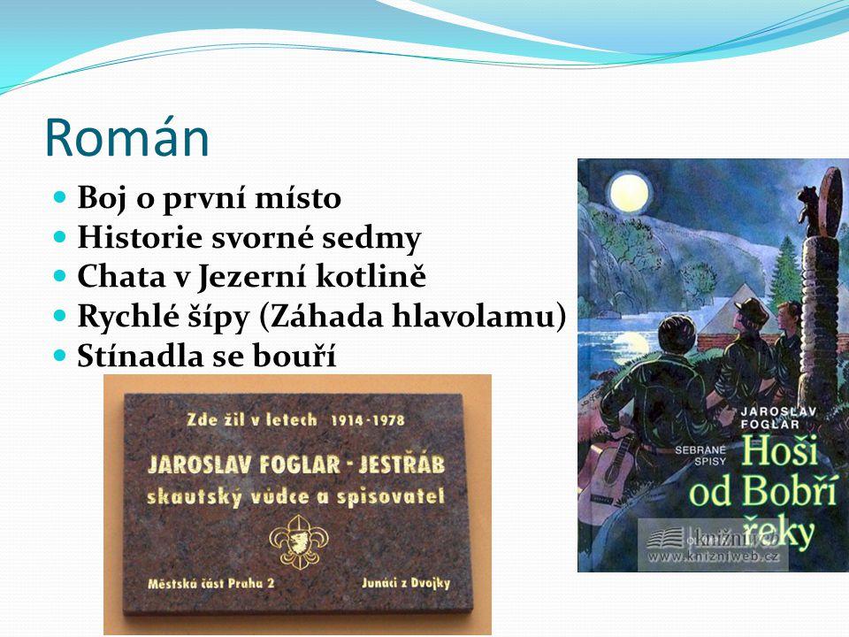 Román Boj o první místo Historie svorné sedmy Chata v Jezerní kotlině Rychlé šípy (Záhada hlavolamu) Stínadla se bouří
